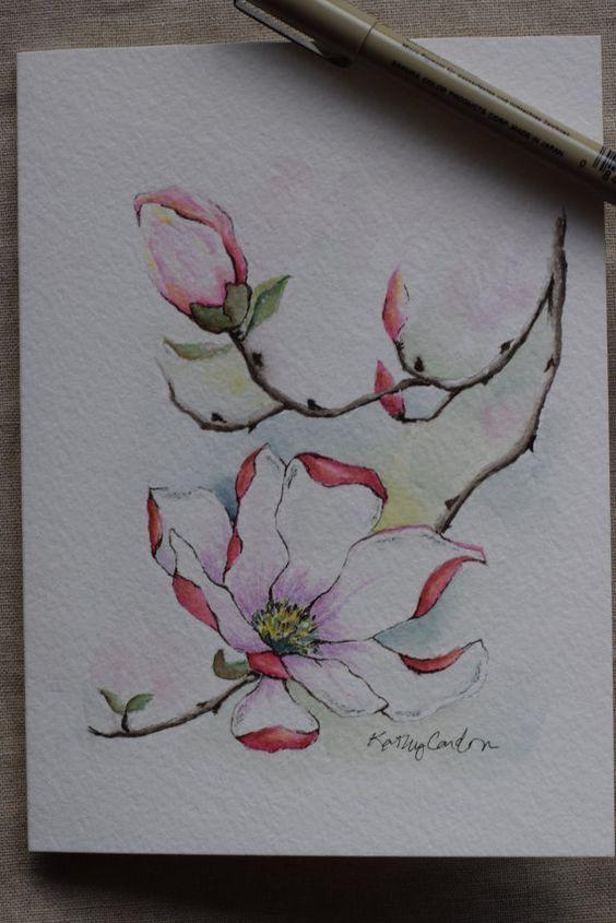 Acrylic Paintings Of Magnolias