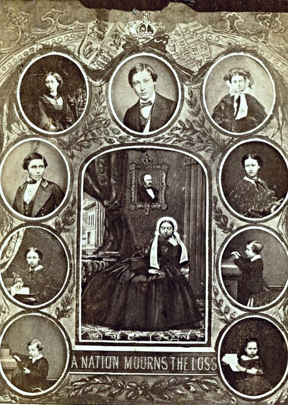 Queen Victoria and the Royal Family in Mourning for Prince Albert, Carte de Visite, Circa 1862 | by lisby1