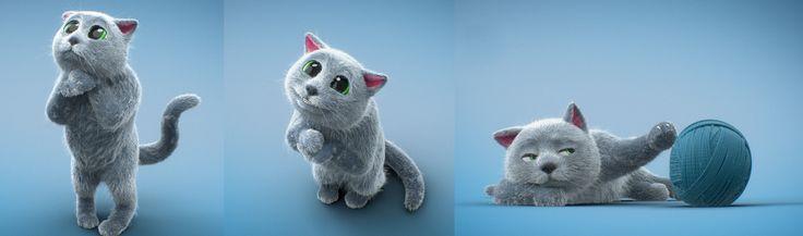 Grey Cat//Ionart Studio