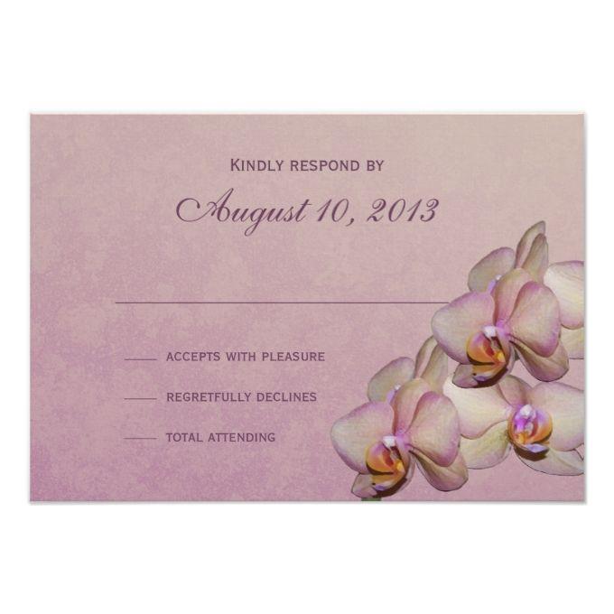 Orchid Beauty Response Card. Orchid Wedding InvitationsInvitation ...
