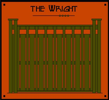 Dragonfly Studio Fence Panels The Wright Recalls Design Touches