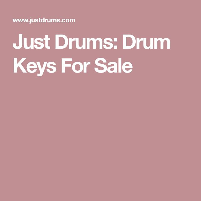 Just Drums: Drum Keys For Sale
