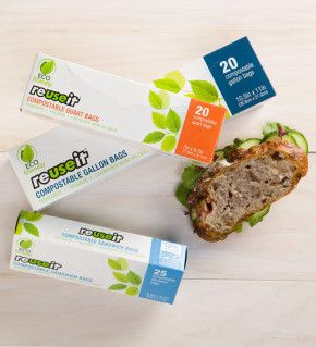 Reuseit Home Compostable Resealable Bags
