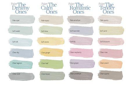 De kleuren in ons nieuwe huis komen uit de Histor One collectie: Warm White, Soft Lime, Pale Grass en Soft Sand. Love it! <3