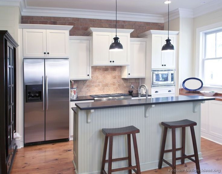 Best White Kitchen Cabinets Images On Pinterest White