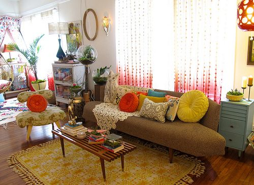 vintage bohemian living room