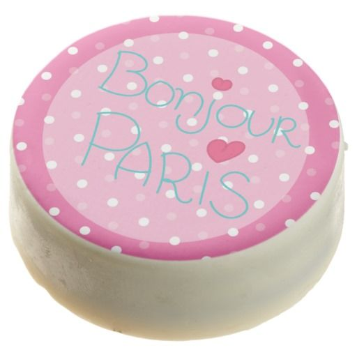 Girl's Pink Paris Birthday Party Chocolate Covered Oreo