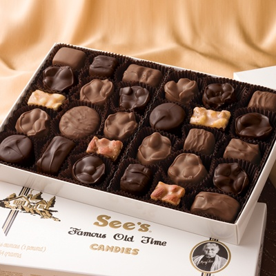 Ah, See's candies! Go ahead and enjoy a chocolatey treat knowing you are supporting made in USA candy. Yum!