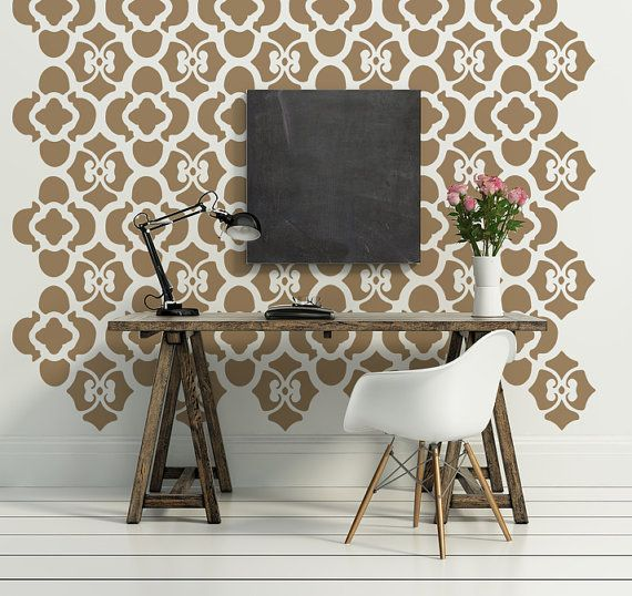Wall Decal Geometric Floral Flowers Rustic by WallStarGraphics