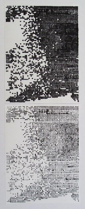 CORINNE LAROCHE - Her (a part of),2010 Tusche auf Papier, 42 x 16 cm
