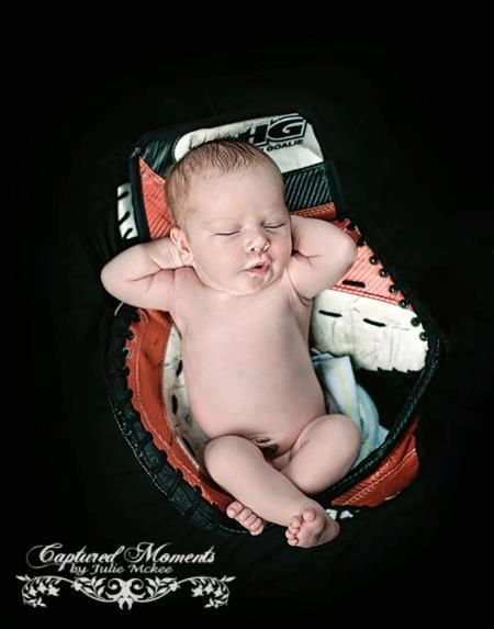 My ovaries just died a little and I don't even like kids...goalie baby picture