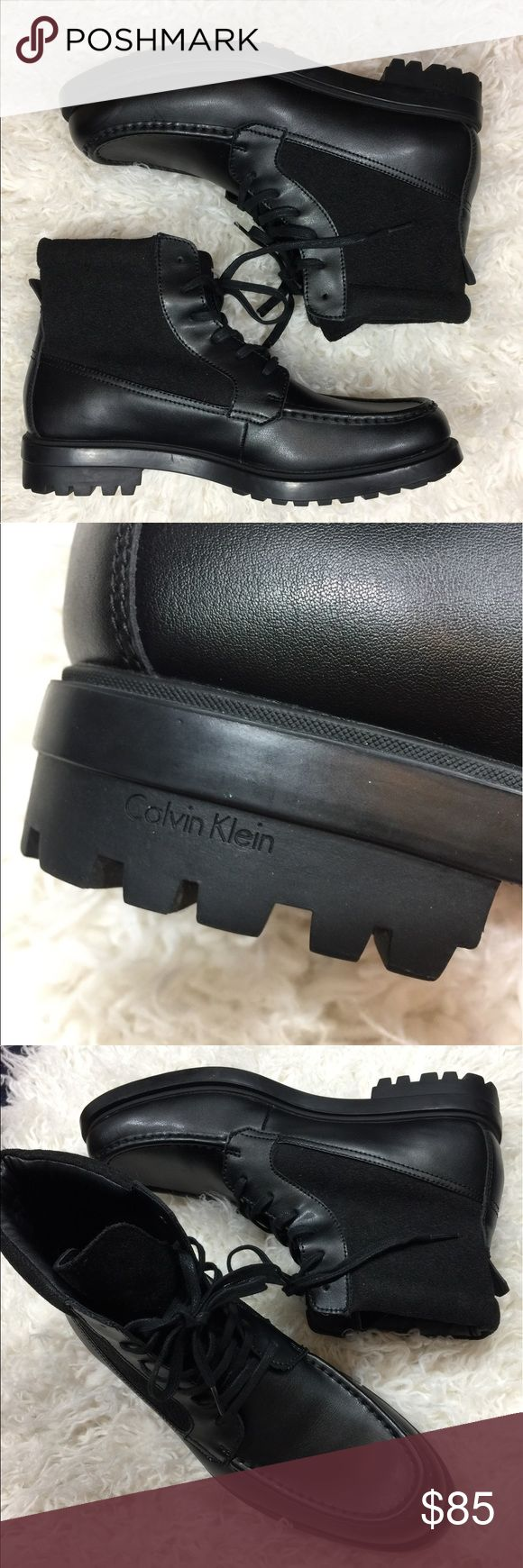 Calvin Klein moto men's leather boots Brand new no box. Calvin Klein ankle high boots. Size 10.5 lace up Calvin Klein Shoes Boots