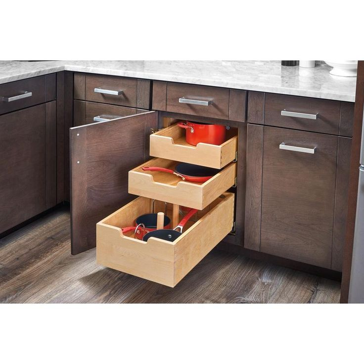 Rev-A-Shelf 22.75 in. H x 16.31 in. W x 21.62 in. D Pilaster System Kit for Full-Height Application, Unfinished Wood