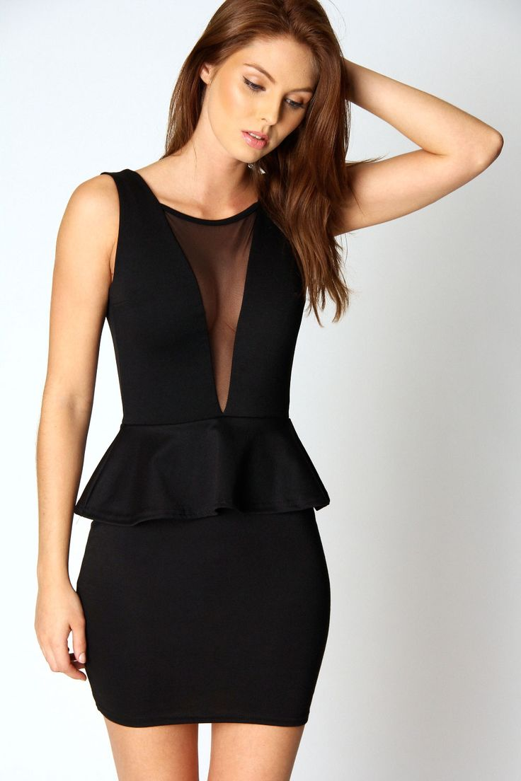 Julia Mesh Front Peplum Dress...$40, y or n?
