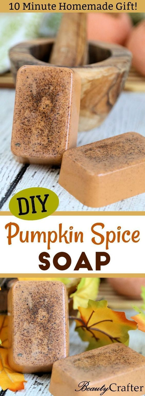 Kürbis-Gewürz-Seifen-Rezept, einfaches Fall-Handwerk, großes DIY Geschenk! Holen Sie sich Ihren Kürbisspi …   – Soap