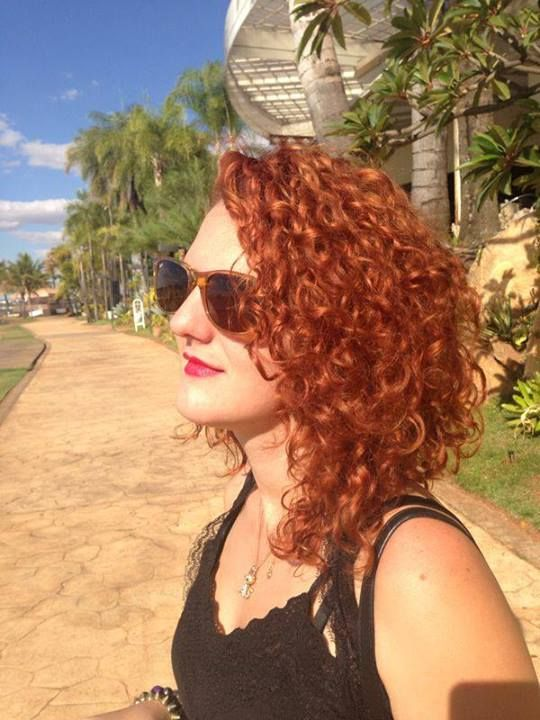 Sunkissed Curly Red Hair
