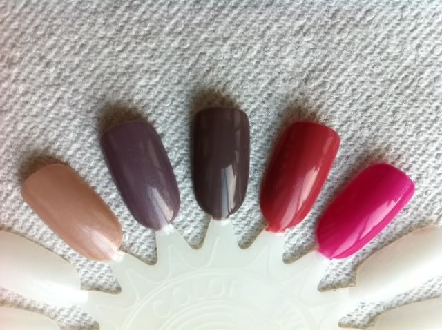 Artistic Colour Gloss Swatches Posh, Vogue, All The Rage, Uptown, Trendy. I love Posh!!!