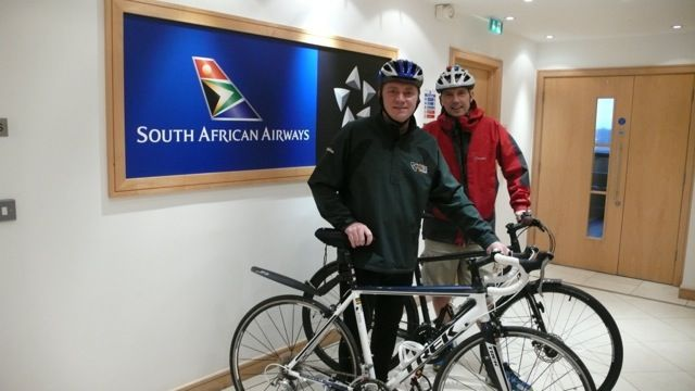 OliElla sponsoring 2 SAA cyclists doing the Argus cycling race in Cape Town.  They are using SportsBalm during their training and for the 110km race.