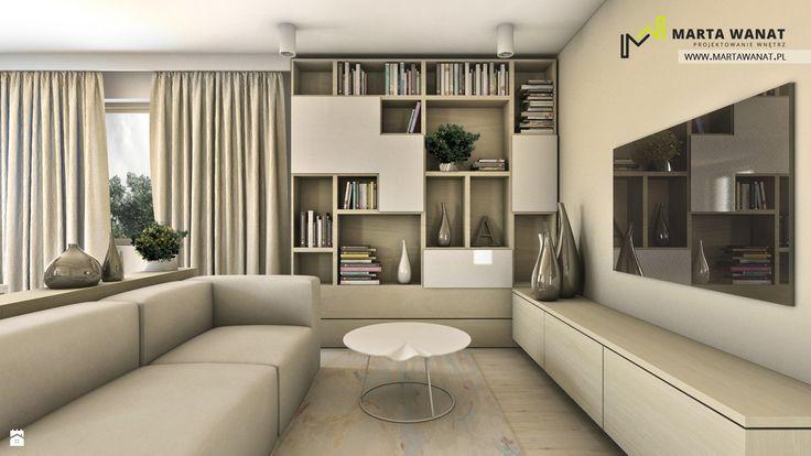 Mieszkanie 64m2, Katowice - zdjęcie od Marta Wanat Projektowanie wnętrz - Salon - Styl Nowoczesny - Marta Wanat Projektowanie wnętrz