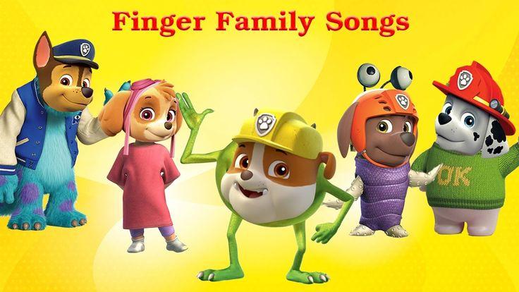 Paw Patrol Transforms Into Monsters, Inc. Paw Patrol Finger Family Nurse...