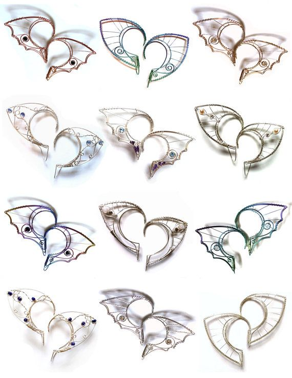 Custom silver hairfriendly elf ears by Belethil on Etsy, $95.00      Belethil -  jewelry by Alanya Divine