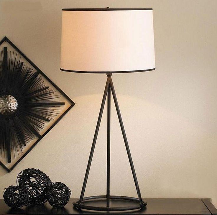 Лампы Американский кантри стиль сада гостиная спальня ночники ткань исследование современный минималистский творческий освещение, Настольные лампы купить на AliExpress