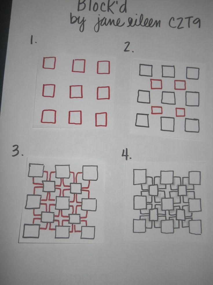 Tangle: Blockd, by Jane Eileen, Certified Zentangle Teacher