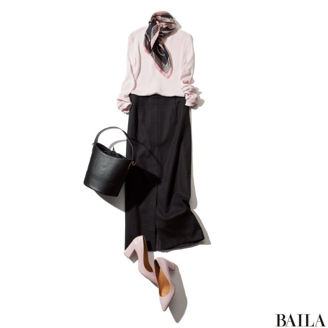 定番【黒タイトスカート】×トレンドアイテムで着回し7Days-@BAILA