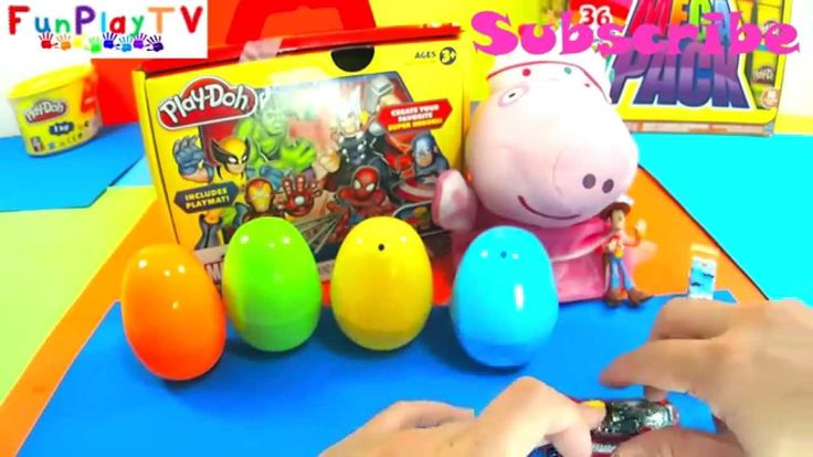 FunPlayTV Surprise eggs - Find Kinder Surprise Minions 2015 Surprise Egg Batman Toy Story Hot Wheels Angry Bird https://goo.gl/fZjblu   FunPlayTV Surprise eggs are enjoyable to watch with Peppa Pig as we open supercool toys from Kinder Surprise Disney Nicklodeon . Watch our other videos as we have fun with play doh superheroes avengers spiderman incredible hulk ironman thor captain america, hawkeye, my little pony, shopkins play doh my little pony, peppa pig and friends.