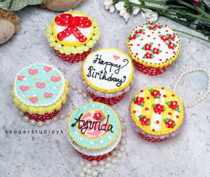 😄😄😄 Shabby Chic Cuppycakes~ 100℅ Sweet Buttercream..