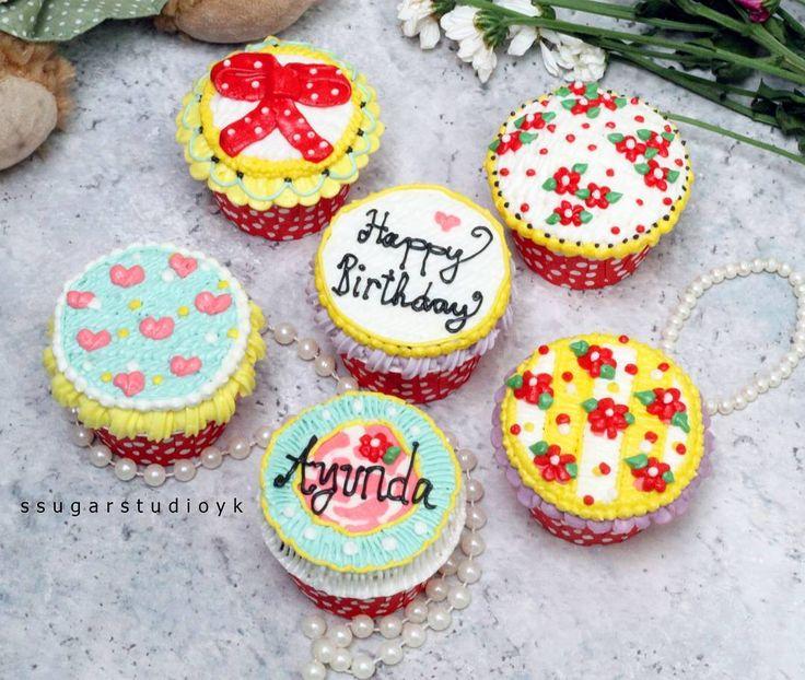 😄😄😄 Shabby Chic Cuppycakes~ 100℅ Sweet Buttercream..