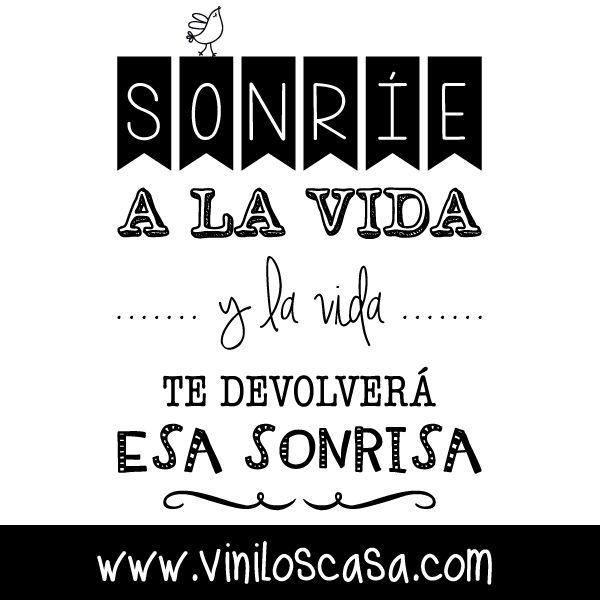 Sonríe a la #vida --> www.viniloscasa.com
