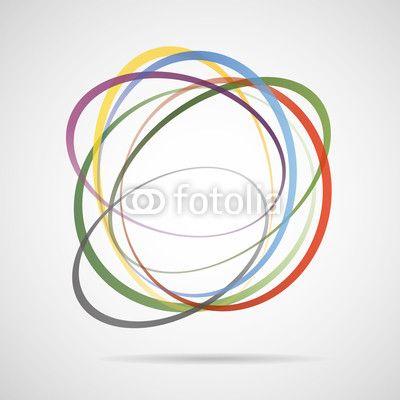 Abstrakt farben Vektor rings logo zeichen bund kinder garten