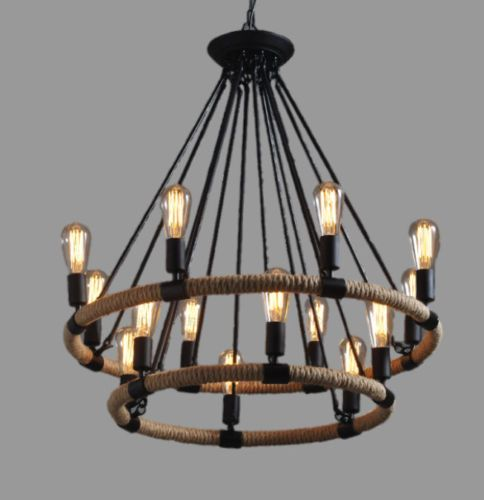 Large Farmhouse Ceiling Lamp Chandelier Lighting Pendant Cafe Kitchen