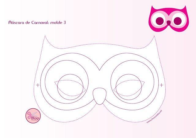 molde mascara de dormir coruja - Pesquisa Google