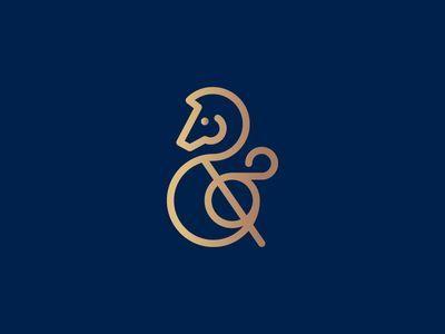 Horse Ampersand Logo Design
