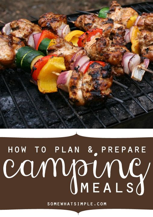 I LOVE the tips in this post! How to plan and prep camping meals. Genius.
