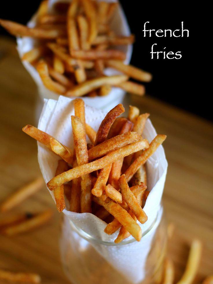 french fries recipe | crispy potato finger chips recipe - http://hebbarskitchen.com/french-fries-recipe-potato-finger-chips/