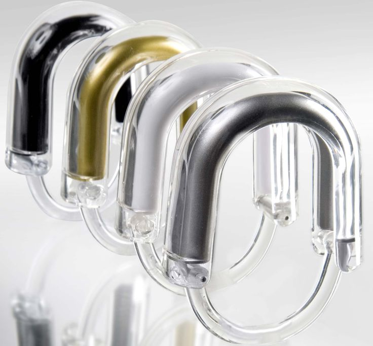 Awesome Shower Curtain Ring Design Ideas ~ http://www.lookmyhomes.com/choosing-appropriate-shower-curtain-ring/