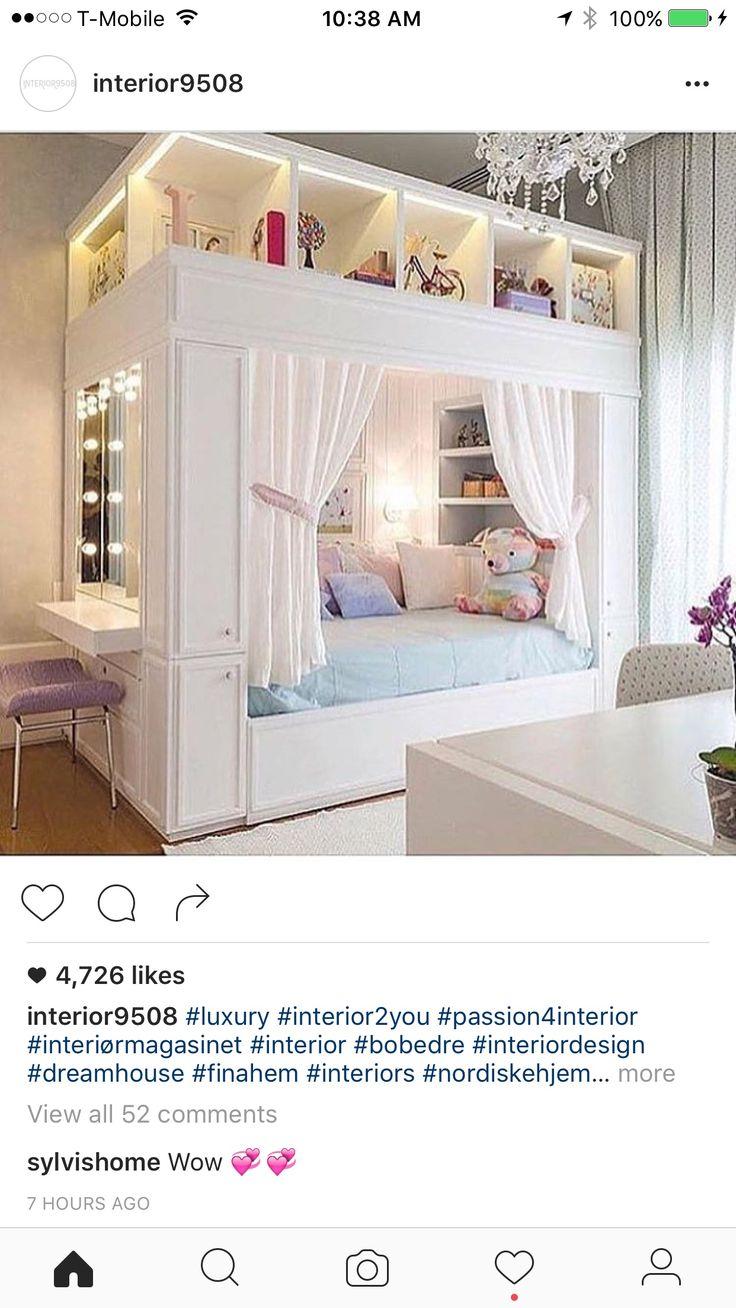Mädchen Schlafzimmer, Schlafzimmer Ideen, Inneneinrichtung, Wohnideen,  Quartos