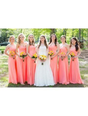 Outdoor Chiffon Bruidsmeisjes Jurken