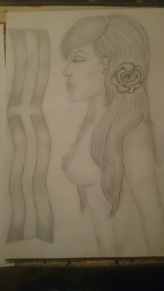 Almost completed drawing