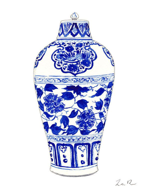 926773c6117 Blue And White Ginger Jar Chinoiserie Jar 1 Art Print by Laura Row. All  prints are professionally printed