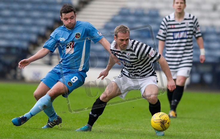Queen's Park's Craig Mcleish on the ball during the SPFL League Two game between Queen's Park and Berwick Rangers.