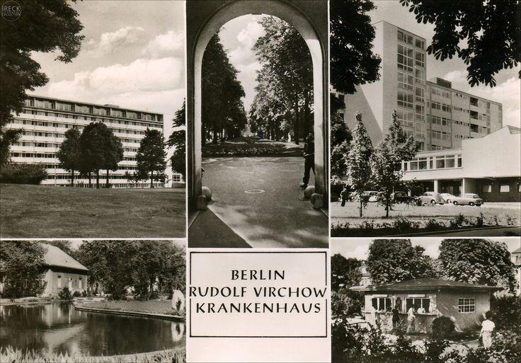 Berlin Rudolf-Virchow-Krankenhaus Postkarte Stempel 1963