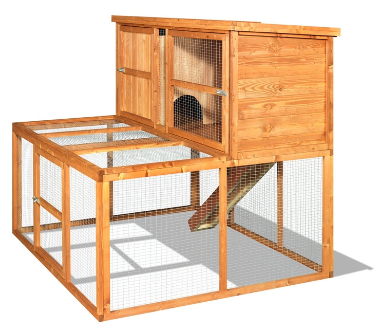 Home & Roost proudly offer The Lincoln 150 Luxury Rabbit Hutch and Run  combination. This hutch makes a fantastic pet home, all year round, for the  larger ...