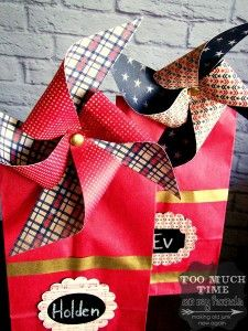 Patriotic Kids Treat Bags with Handmade Clothespin Pinwheels 4 copy