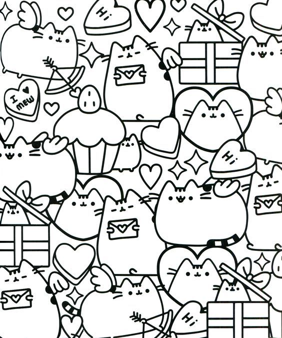 Coloring page | Pusheen coloring pages, Unicorn coloring ...