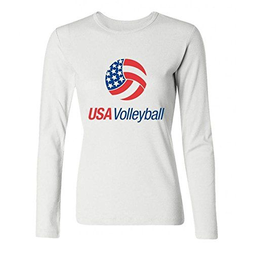 DLQUEEN Women's Usa Volleyball Logo Adult Long Sleeve T-shirt Size L White DLQUEEN http://www.amazon.com/dp/B0199RJ2KI/ref=cm_sw_r_pi_dp_7hMVwb1ZK0YSP