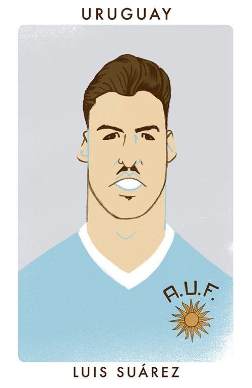 Luis Suarez in the style of 1950 World Cup heroAlcides Ghiggia.